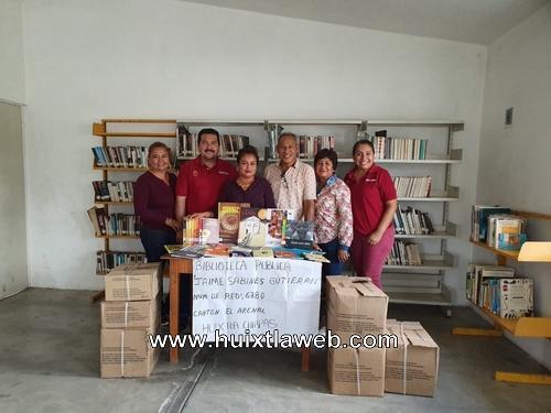 Conaculta realizó entrega de libros a  bibliotecas del gobierno de Huixtla