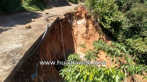 Lluvias dejan destruidos caminos en Tuzantán y Tapachula