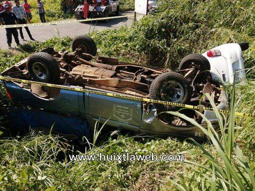 Aparatoso choque del transporte mixto de Huixtla carretera a Motozintla