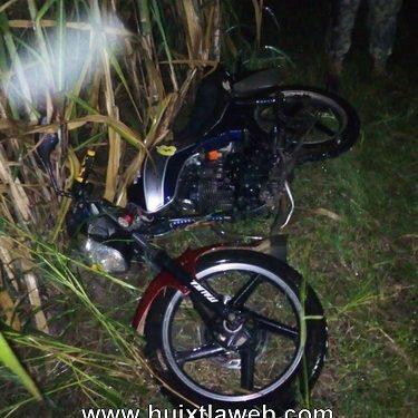 Recuperan moto robada y detienen a ladrón en Huixtla