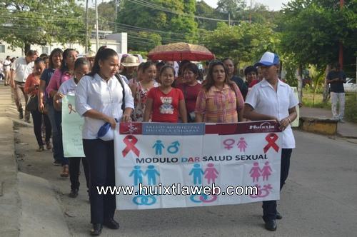 Gobierno de Huixtla, instituciones educativas y de salud del municipio conmemoran día mundial de la lucha contra el SIDA