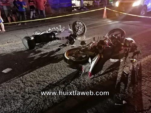 Dos heridos al chocar motociclistas Huixtla a Tuzantán