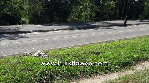 Muere mujer atropellada en la carrerea Huixtla a Villa Comaltitlán