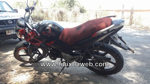 Aseguran motocicleta con reporte de robo en carretera de Escuintla