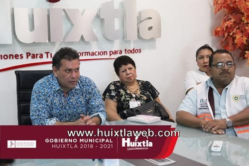 """Coordinan estrategias, acciones y medidas de prevención del """"Plan contra el COVID 19"""" en Huixtla"""