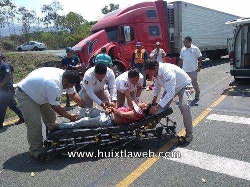 Grave sujeto que fue atropellado carretera Huixtla – Villa comaltitlán