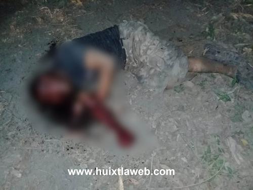 Huehueteco es asesinado a machetazos