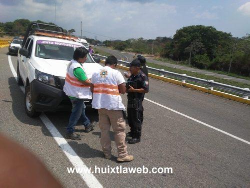 Dos heridos al ser atropellados por un vehículo en La Curva del Diablo