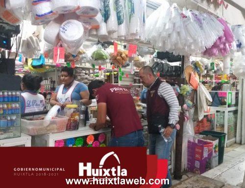 Comienza Odeco (antes Profeco) a recorrer comercios en Huixtla por alza indebida de precios.