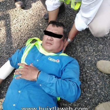 Empleado refresquera se accidente en la costera Huixtla a Tapachula