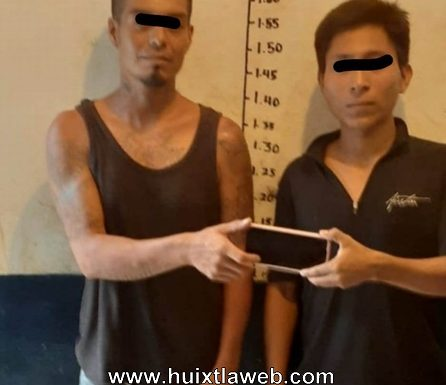 Verdaderos pájaros de cuenta, ladrones de celular detenidos en Huixtla