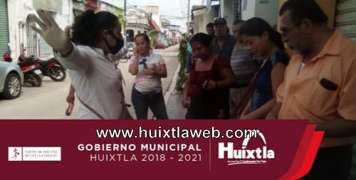 Gobierno de Huixtla continúa promoción de medidas de prevención