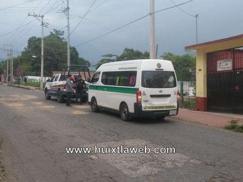 Colectivo detenido con 17 pasajeros