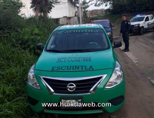 Violento asalto a taxista en Escuintla