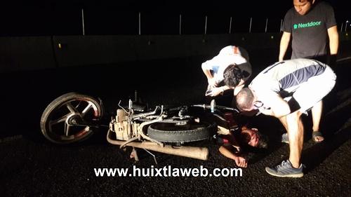 Motociclista grave se accidenta en la curva del diablo