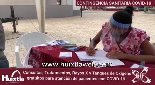 Consultas, medicamentos, rayos X de tórax y tanques de oxígeno gratuitos para los ciudadanos en Huixtla