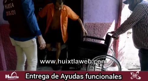 Gobierno municipal y DIF Huixtla realizan entrega de ayudas funcionales