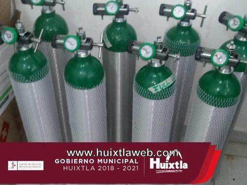 Gobierno de Huixtla adquiere tanques de oxígeno para traslados urgentes