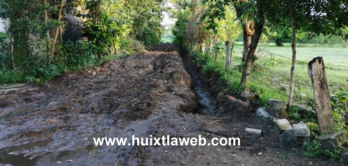 Destruyen camino de los milenios en Huixtla