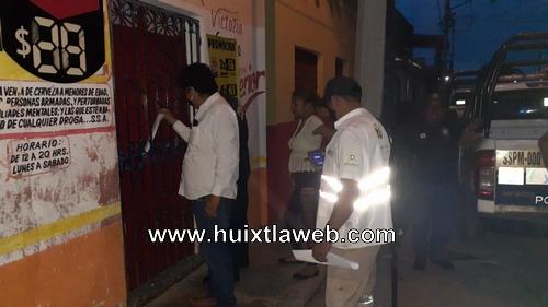 Fuera de control cantinas clandestinas en Huixtla