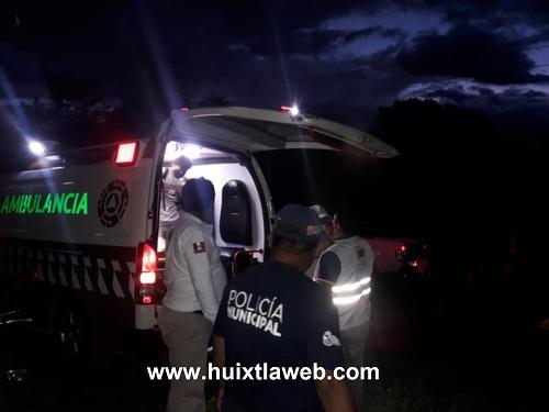 Polleros se accidentan abordó de motocicleta carretera Villa Comaltitlán Escuintla