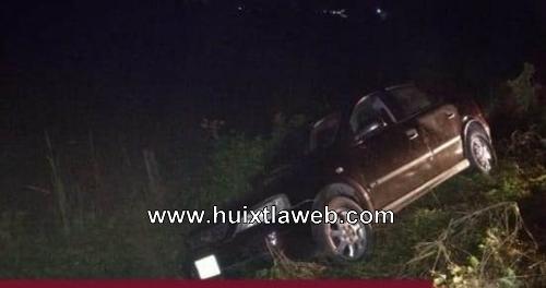 Huixtleco se accidenta carretera al ingenio