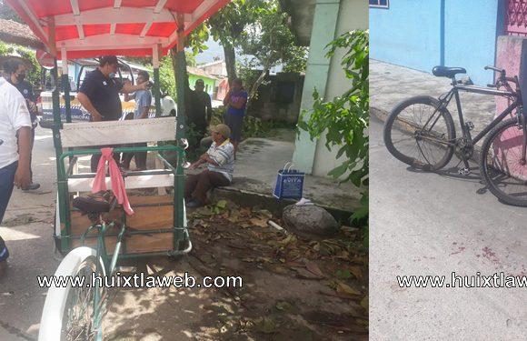 Ciclista atropellado por triciclo en el puente milenio