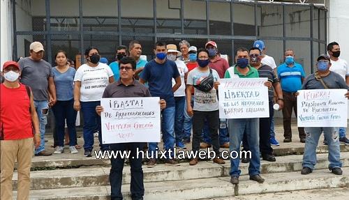 Continúan los conflictos en Huehuetán, ahora hay dos detenidos tras manifestación social