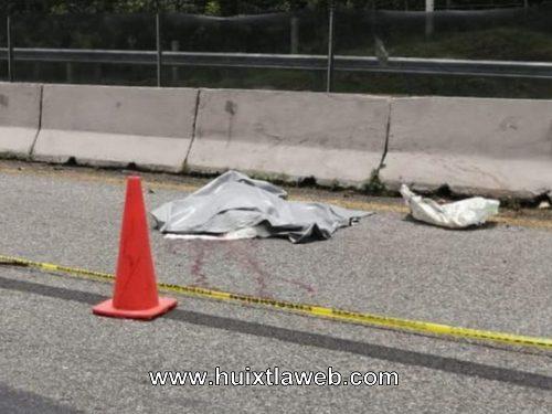 Anciano muere atropellado carretera Huehuetán Tapachula