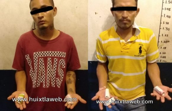 Dos detenidos con marihuana en Huixtla