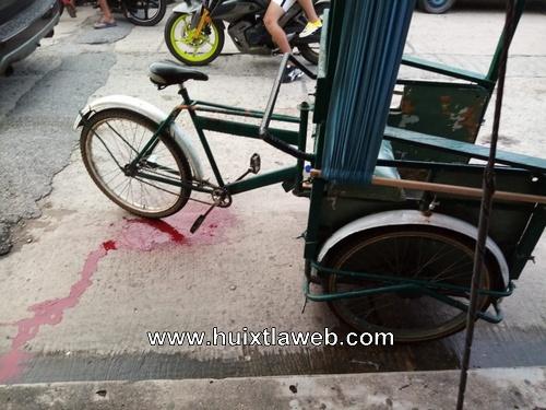 Se recupera triciclero baleado en la zona de tolerancia de Huixtla