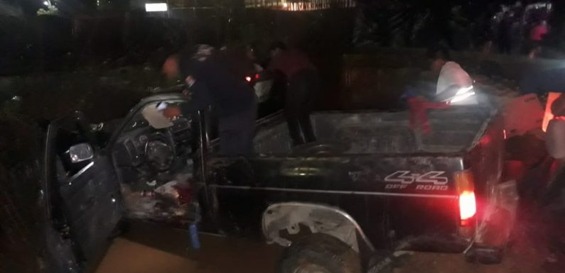 En coma accidentado de la glorieta en Huixtla