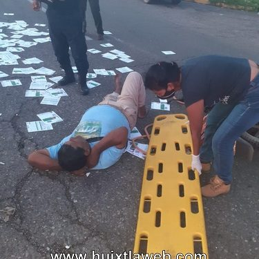 Dos lesionados al chocar motociclistas en Mazatán