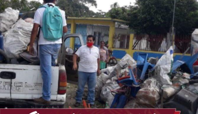 Recorre personal de salud zona baja del municipio con campaña de descacharrización