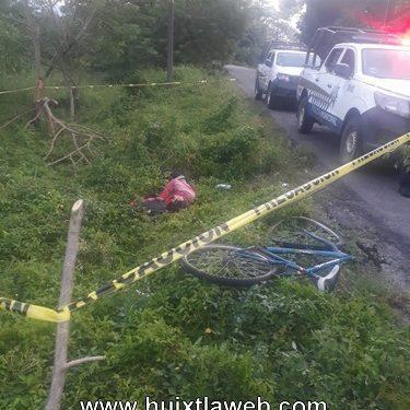 Huixtleco muere atropellado, carretera al ingenio