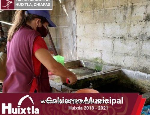 Continúa campaña de control larvario en Huixtla