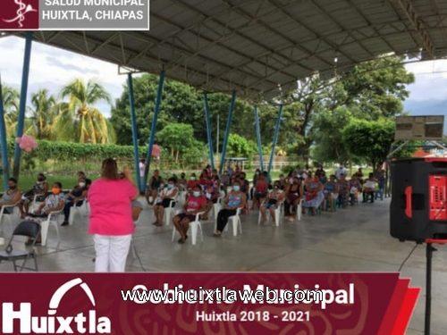 Programa «Acciones integrales para la mujer» en la colonia Cañaveral