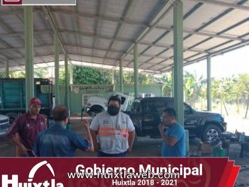 Protección civil realiza verificación de albergues del ingenio en Huixtla