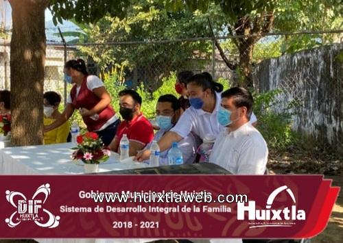 Gobierno y DIF Huixtla firmaron acta de comité de salud GMUPEA