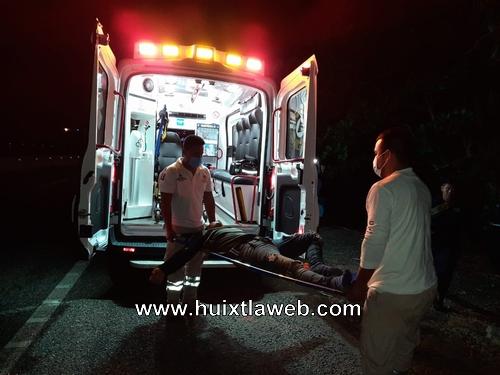 Guardias de seguridad de Huehuetán se accidentan en motocicleta