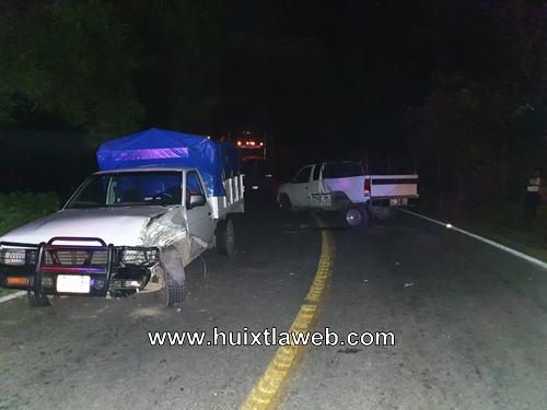 Después de chocar se da a la fuga y vuelve a chocar carretera Huixtla – Motozintla