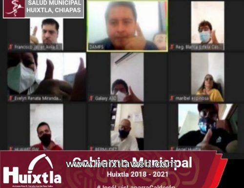 Gobierno de Huixtla realiza primer sesión virtual del comité de salud municipal