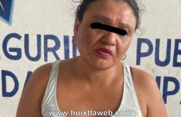 Sorprenden a mujer robado en el mercado de Huixtla