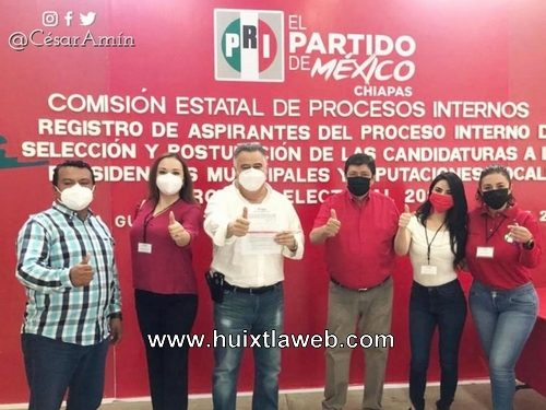 César Amín González Orantes, va rumbo a la candidatura de la coalición Va por Tapachula PRI, PAN, PRD