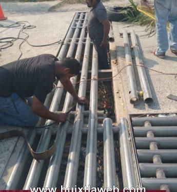 Rehabilitación alcantarilla Pluvial en calle de Huixtla