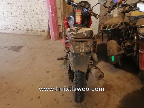 El BOM recupera moto robada en Mazatán