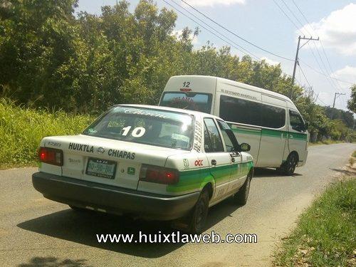 Transportistas pelean ruta Huixtla Tuzantán