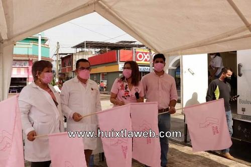 Con jornada con mastografías gratis conmemoran el día internacional de la lucha contra el cáncer en Huixtla