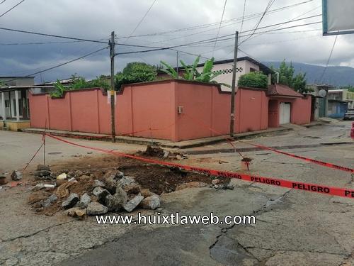 Repara ayuntamiento municipal drenaje colapsado
