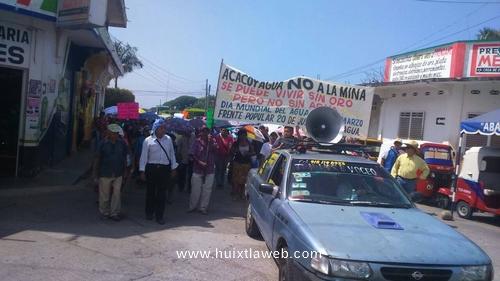Por motivo del día mundial del agua protestan contra minas en Acacoyagua y Escuintla